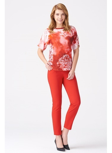NaraMaxx Desenli Basic Bluz Renkli